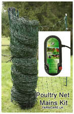 Poultry / Chicken Electric Netting GREEN  Mains  * KIT*