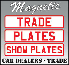 MAGNETIC TRADE PLATES SHOW CAR DEALER COMMERCIAL RECOVERY BREAKDOWN