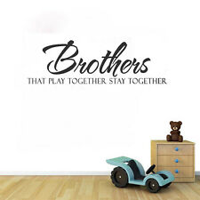 Brothers Quote Home Boys Bedroom Vinyl Wall Sticker Room Removable Art Decal