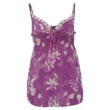 Animal long cami vivid viola pink top summer holiday BNWT festival 10