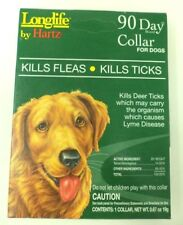 1- LONGLIFE BY HARTZ 90 DAY FLEA & TICK COLLAR FOR DOGS ~NIB