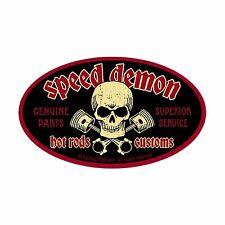 Speed Demon Vintage Racing Hot Rod Racing Vinyl Sticker 4 Stickers