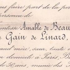 Clotilde De Gain De Linard Amable Pelet De Beaufranchet 1878