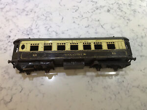 Old hornby O Gauge No2 Pullman Passenger Carriage