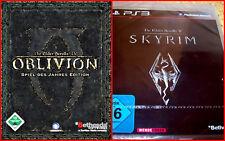 PS3 3games: The Elder Scrolls IV + V. : Skyrim + OBLIVION Spiel des Jahres