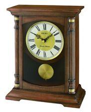 Seiko QXQ034B Wooden Melody Mantel Clock With Pendulum
