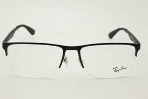 Ray Ban RB 6335 Eyeglasses 2503 Carbon Fiber Matte Black Large 56mm + CASE
