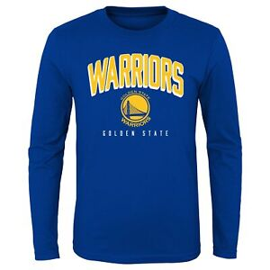Outerstuff Golden State Warriors NBA Youth (8-20) Dunked Long Sleeve Tee, Blue