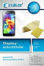 6x Ecultor Samsung Galaxy S5 mini klare Displayschutzfolie Crystalclear glänzend