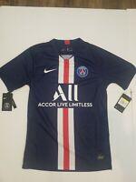 NWT NIKE PSG Paris Saint Germain Jersey 19-20 (AJ5553-411) Mens Small MSRP $90