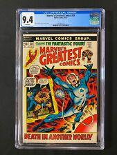 Marvel's Greatest Comics #38 CGC 9.4 (1972) - Fantastic Four