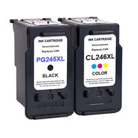 2pk PG-245XL Black & CL-246XL Color Ink for Canon PIXMA iP2820 MG2420 MG2520
