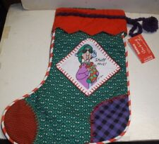 "New Hallmark Shoebox Christmas Maxine Stocking Stuff This 14"" tall"