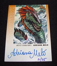 2014 Goodwin Champions Monsters! SEA SERPENT Artist Auto SP/25 ADRIANA MELO #M39