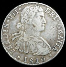 1810 Hj Mexico 8 Reale Milled Bust Moneda Fuerte Us First Silver Dollar $1 Coin