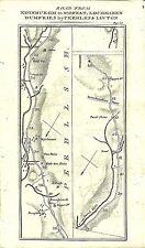 Carte antique, Édimbourg à Dumfries (3)