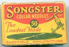 SONGSTER  COLLAR GRAMOPHONE  NEEDLES  PACKET
