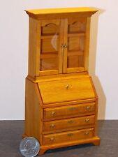Dollhouse Miniature Desk Secretary Oak 1:12 one inch scale K8 Dollys Gallery