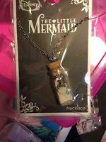 Disney The Little Mermaid ARIEL CHARMS BOTTLE PENDANT NECKLACE New