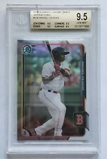 2015 Bowman Chrome Draft RAFAEL DEVERS Refractor #106 Rookie Card RC Red Sox