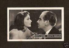 Greta Garbo & Melvyn Douglas  Kwatta Movie Star Card  Look!