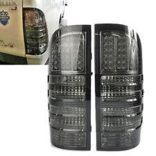 FIT TOYOTA HILUX VIGO SR5 MK6 2005-2011 LED REAR TAIL LIGHT LAMP SMOKE BLACK ABS