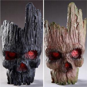 PVC Novel Skull Head Flower Pot Pen Holder Funny Taro Toys Office Plant Decor