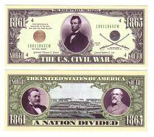 "1 MILLION DOLLARS ETATS-UNIS ""THE U.S. CIVIL WAR"""
