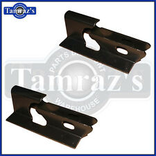 66-72 GM A-Body Floor Pan Rear Lower Seat Mounting Anchor Brackets Bracket Set