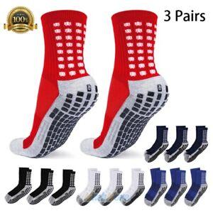 3Pairs Anti Slip Non Skid Slipper Hospital Sports Athletic Socks w/ grips Unisex