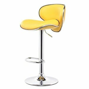 Leather High Chair For Bar Dining Kitchen Room Decoration Modern Stylish Fixture