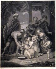 NATHAN'S PARABLE 1796 Jean Marie Delattre - Richard Morton Paye ANTIQUE ETCHING