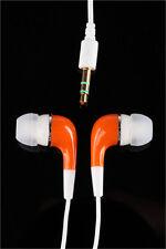New 3.5mm In-Ear Earphone Earbud for iPhone Tablet PC Orange Gift
