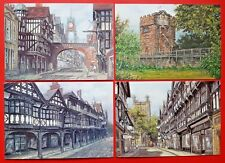 Beautiful Collection of 4 New Chester Art Postcards by Sue Firth