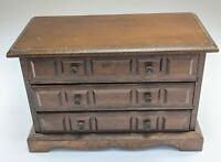 Vintage Japanese Wooden Music Box 3 Drawer Jewelry Box Gentle Melody Works G3