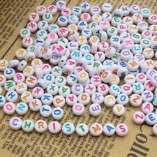 * FREE SHIPPING * 250 Alphabet Letter Beads Great For Craft and School Projects