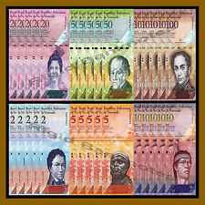 Venezuela 2 - 100 Bolivares X 6 Pieces (PCS) X 5 Set, 2007-2016, P-88-93, UNC