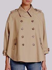 NWT MICHAEL Michael Kors Dolman-sleeve Short Trench Natural/Khaki Size L, $225