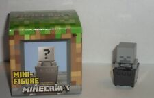 L@@K Minecraft Mini Figure Skeleton in Minecart VHTF