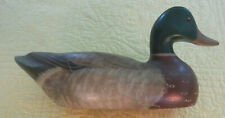 Early '82 Big Sky Carvers Full Size Wooden Duck Decoy Carved & Signed C Fellows