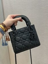 Christian Dior Small LADY BAG Black Ultramatte Cannage Calfskin
