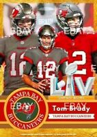 Tom Brady Limited Edition Tampa Bay Buccaneers Super Bowl 55 Trading Card. ACEO
