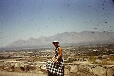 ON TOP OF A MOUNTAIN TUCSON ARIZONA. 1953 RED BORDER  35MM SLIDE