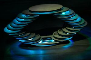 Futuristic Spiral Elipse Shape Lamp - Handmade Night Lamp/Desk Lamp - Multi colo