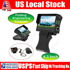 """4.3""""TFT LCD Foldable CCTV Cam Audio Video Security Tester RJ45Cable Test Monitor"""