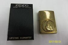1932 -1992 ZIPPO Brass Lighter * Camel Medallion * USED SUPER CLEAN FREE SHIP