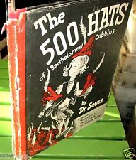 (1938 print) The 500 Hats of BARTHOLOMEW Cubbins by Dr SEUSS~hardback with dj