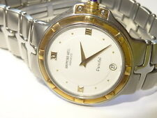 Raymond Weil Parsifal Model 9188 18K/SS Mens Date Watch White Roman Dial