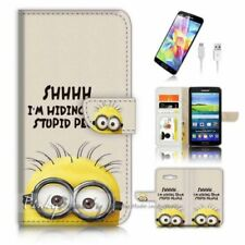 Minions Mobile Phone Wallet Cases for Samsung