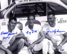 David Pearson Junior Johnson Ray Fox SIGNED 8x10 Photo NASCAR PSA/DNA AUTOGRAPH